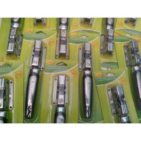 Hanifah Store - 2 Pcs PENGASAH Pisau dan Gunting Stainless Steel / Knife Grinder Asahan Surmene