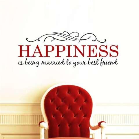 Kebahagiaan Adalah Kutipan Bunga Vines Ruang Keluarga Stiker Dinding Kamar Tidur Stiker Ruangan Anak-anak Poster Seni Mural Hiasan Rumah Vinil-Intl 2