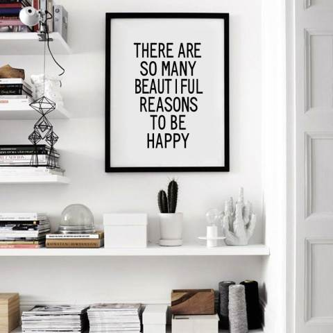 Happy Quote Seni Kanvas Cetak Lukisan Poster, Dinding Gambar untuk Home Decoration, Dekorasi Rumah YE040 1