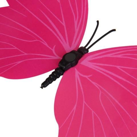 Hbvivid 3D Kupu-kupu Dinding Decors Stiker untuk Dekorasi Rumah 12 Pcs/pack Pola Acak-Mawar-Internasional 3