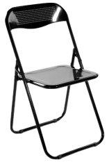 Herman Dexter - Kursi Lipat - Banno Metal Folding Chair - Hitam