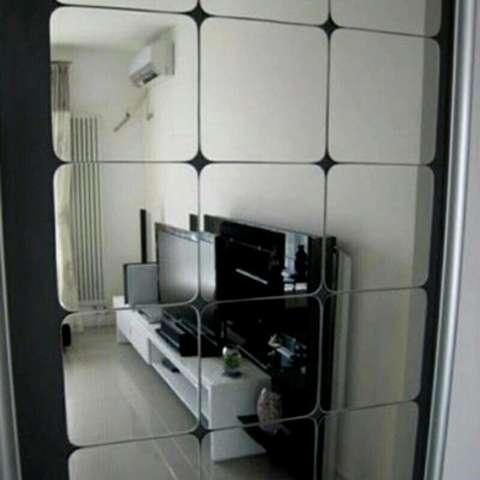 Hiasan Dinding Cermin Kotak - Impor Mirror Wallstiker 1
