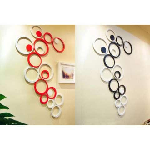 Hiasan Dinding Wall Sticker 3D Bentuk Lingkaran 2
