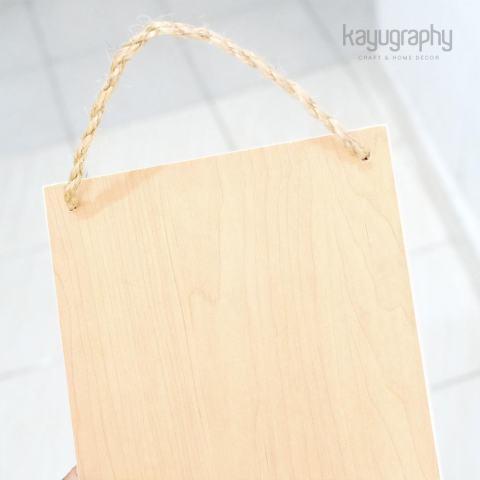 Hiasan Pajangan Dinding Quote Wooden Vintage Poster Kayu - 15x20cm A044 2