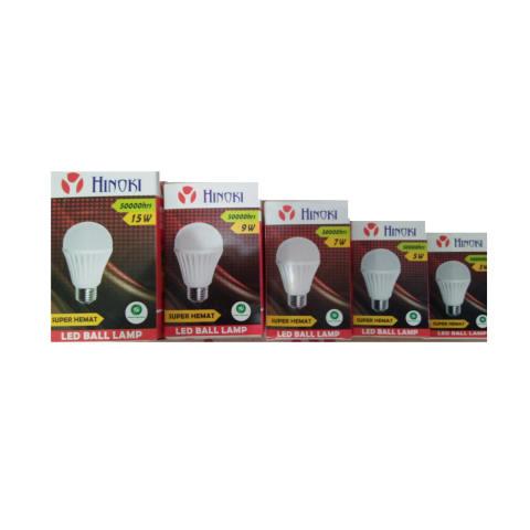 Hinoki Lampu Bholam LED 3 watt 6 pcs