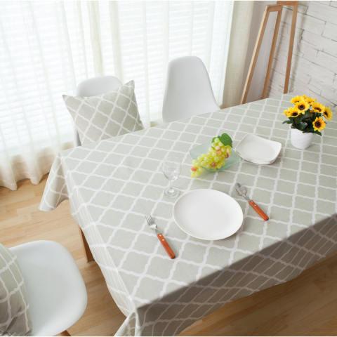 HL 140 Cm * 140 Cm Cotton Linen Oblong Taplak Meja Meja Cover untuk Dapur Dinning