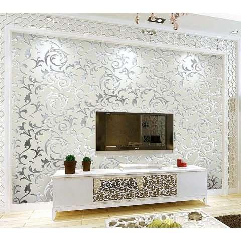 Dekorasi Rumah Modern Sederhana Wall Sticker Ramah Lingkungan Halus Kepingan Salju TV Kamar Tidur Ruang Tamu Dinding Seni DIY Wallpaper Mural-Intl 3
