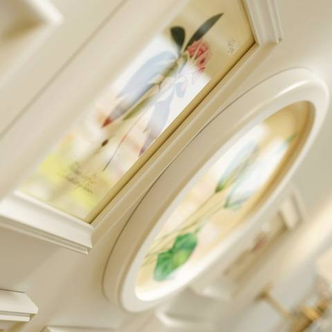 Rumah Wood Gambar Bingkai Set Foto Kreatif Di Dinding Pastoral Gaya Ruang Tamu Dekorasi Dinding Kamar Tidur 145*85 CM Putih-Internasional 3