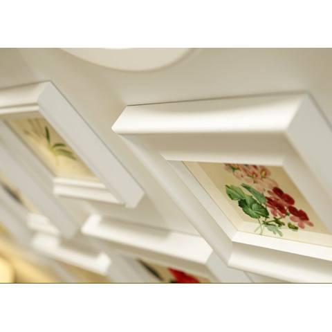 Rumah Wood Gambar Bingkai Set Foto Kreatif Di Dinding Pastoral Gaya Ruang Tamu Dekorasi Dinding Kamar Tidur 145*85 CM Putih-Internasional 2