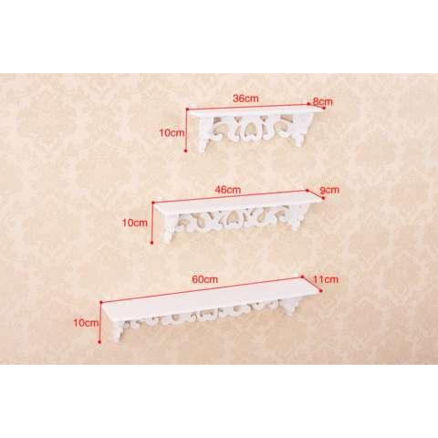 HW Rak Dinding Dekorasi Vintage Ukiran Menarik 1 Set isi 3 Piece Ukir 1