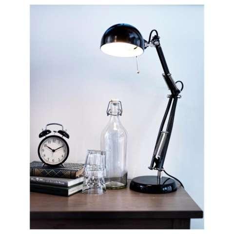 Ikea Dekad Jam Meja Alarm Waker Weker Clock Vintage Design - Hitam