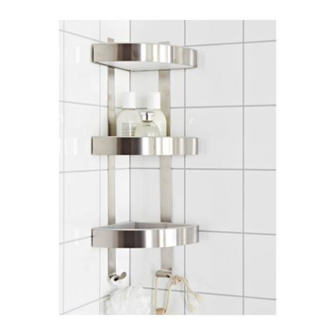 Ikea Grundtal Rak Kamar Mandi Rak Dinding Sudut - Baja Tahan Karat 1