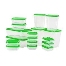 IKEA Pruta Toples Plastik isi 17 pcs BPA Free - Toples Kue Penyimpanan makanan [Hijau]