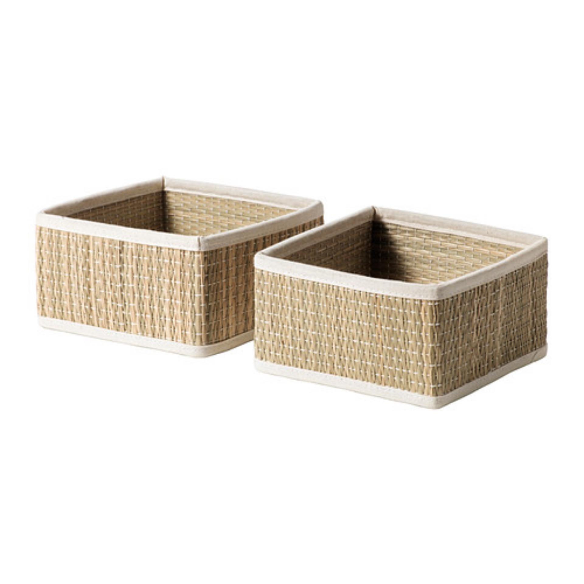 Ikea Salnan Keranjang Mendong 2Pcs - Cokelat