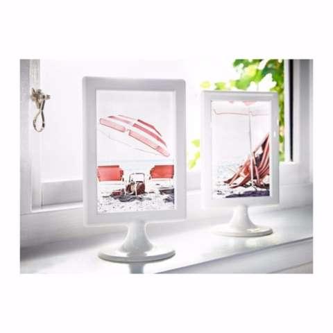 IKEA Tolsby Bingkai Foto Frame for 2 Pictures Minimalis 21x12cm 2 Sisi Pigura Figura Memajang Foto Lukisan Gambar Polos Pajangan Penghias Hiasan Dinding Meja Lemari Kabinet Table Photo Display Wall Decoration Dekorasi Pernak-Pernik Rumah - White 1