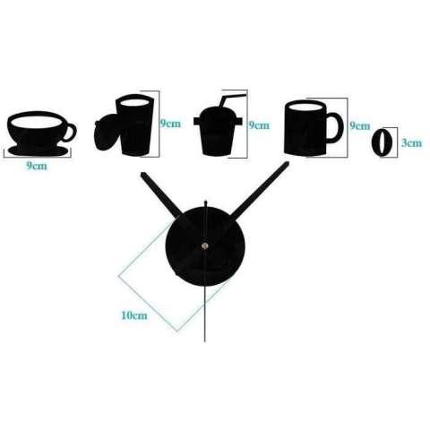COD - [HITAM] Jam Dinding Model Kopi Cafe / Dekorasi Rumah / Furniture Rumah / Hiasan Rumah / Hiasan Kamar - Lazpedia 2
