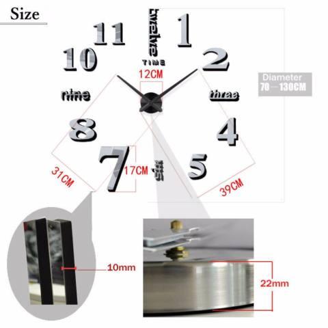 Jam Dinding Ukuran Besar DIY 80-130cm Diameter - Giant 3