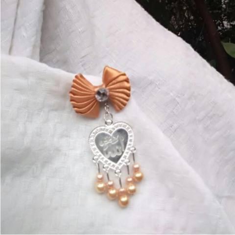 Jam Meja Bisa Untuk Dinding - Ruang Tamu / Bonus Souvenir Bross Mewah / Untuk Jilbab Voile Aksesoris Untuk Si Cantik 2