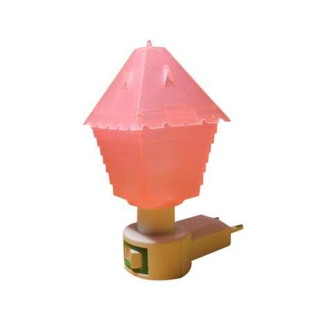 EELIC JM-992 Mini Warna Pink Model Rumah Lampu cantik Malam Hari Tidak Silau Di