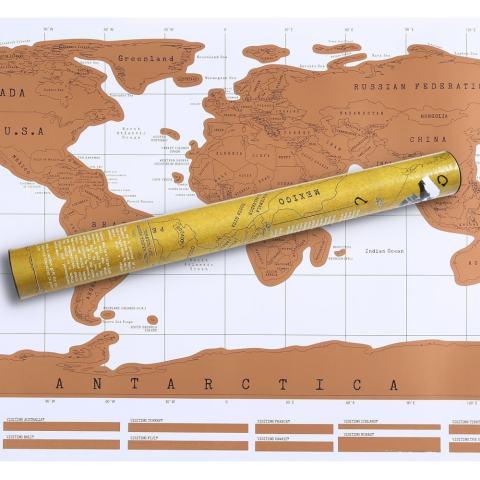 Jiechuan Awal dari Dunia Warna Putih Peta Poster. Barang Bagus untuk Log Anda Global Tours. Hadiah Besar untuk Wisatawan dan Siswa. Sempurna Geografi Aksesori Belajar-Intl 2