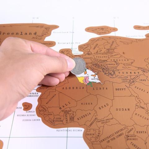 Jiechuan Awal dari Dunia Warna Putih Peta Poster. Barang Bagus untuk Log Anda Global Tours. Hadiah Besar untuk Wisatawan dan Siswa. Sempurna Geografi Aksesori Belajar-Intl 4