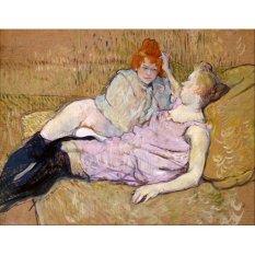 Jiekley Fine Art - Lukisan The Sofa Karya Henri de Toulouse-Lautrec - 1894-1896
