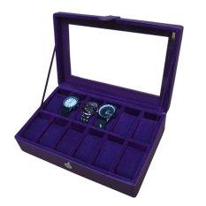 Jogja Craft Watch Box / Tempat Jam / Kotak Jam Tangan Isi 12 - Ungu