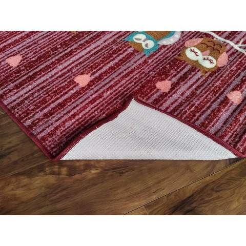 Tren-D-rugs - Karpet Karakter Anak-anak 100 cm x 140 cm Owl Merah JK12MR - NMs 2