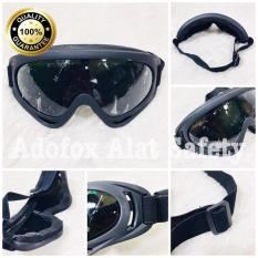 Kacamata Google HITAM - Safety Motor Trail Black - Alat Safety