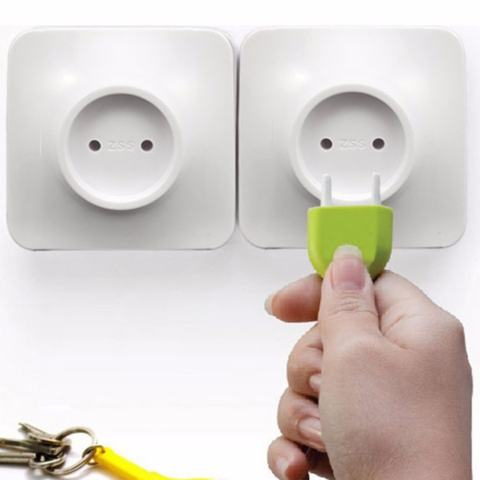 Keys Holder Wall Home Unplug Key Ring Unplug Keychain Novelty Gift Green - intl 2