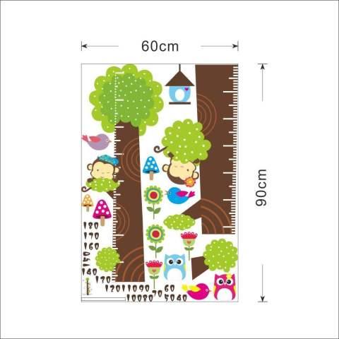 Kids Ketinggian Ukuran Pohon Seni Bongkar Pasang Sendiri Vinyl Kutipan Stiker Dinding Decal Mural Kamar Rumah Dekorasi Kamar Anak Dekorasi 1