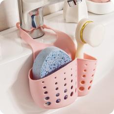 Rak Gantung Dapur Tempat Cuci Piring Kamar Mandi Tempat Penyimpanan Tas (Berwarna Merah Muda)