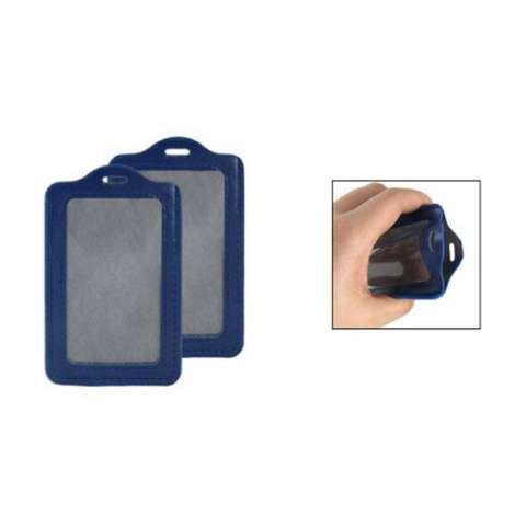 Kobwa Pack dari Kulit Sintetis ID Tempat Kartu Lencana (Biru) 1