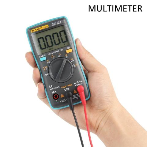 6000 Counts Backlight Ac/dc Transform Ohm Ammeter Resistance Capacitance Temperature Tester .