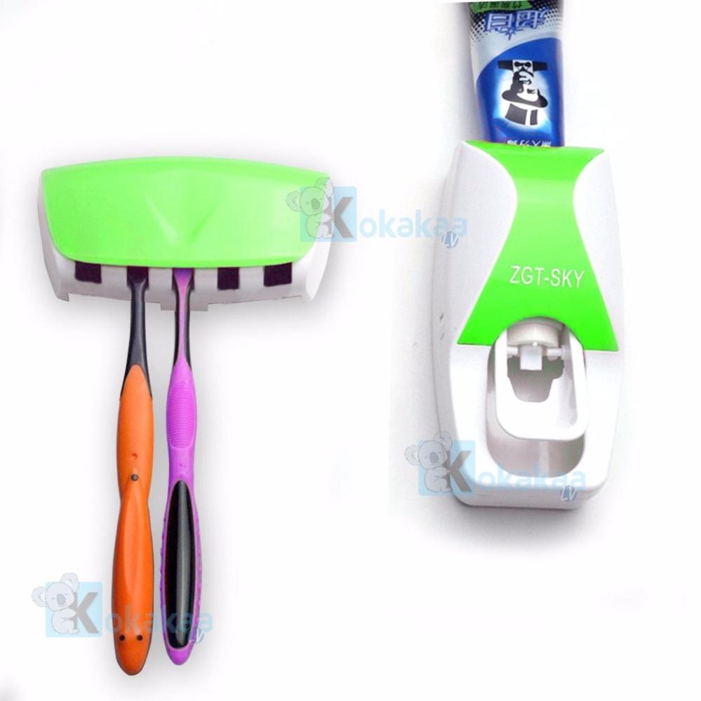 Maxxio Dispenser Odol ZGT SKY Otomatis Toothpaste Holder Sikat Gigi Bundle