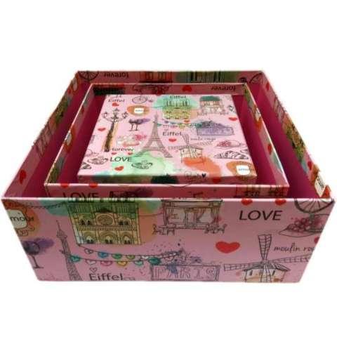 Kotak Kado Kiky Four Shape Box 3in1 Magic Box (High Quality) – Paris 1