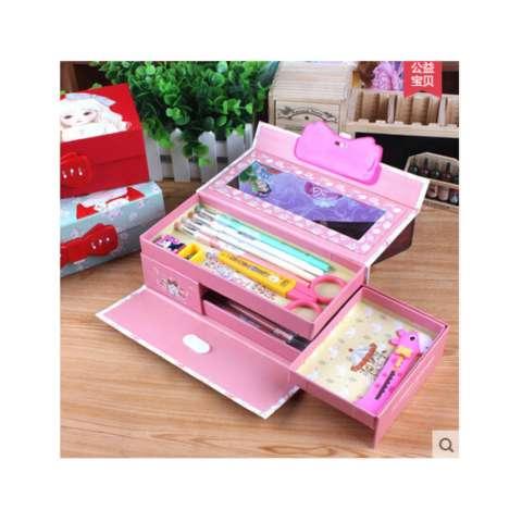 Kotak Pensil/ Tempat Pensil Kode Karakter Cewek ( Gambar Random ) + FREE Pensil Warna