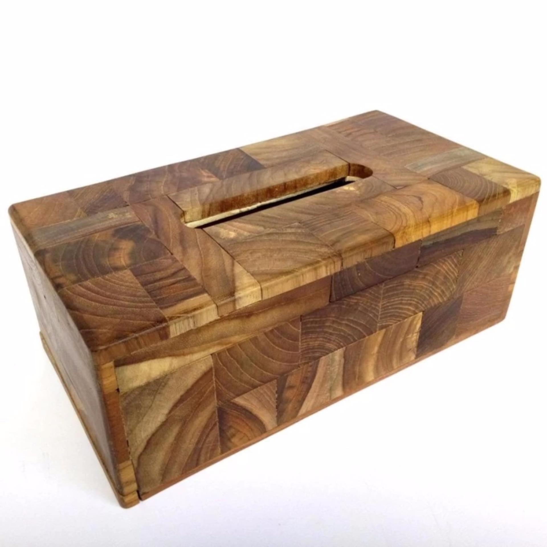 Kotak Tisu Kayu Jati / Tempat Tissue Kayu Jati Susun