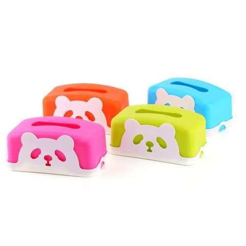 Kotak Tisu - Tempat Tisu Karakter Panda Lucu-Hijau 2