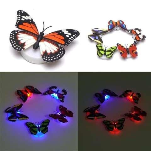COD - [1 PCS] Kupu kupu LED Buterfly Lamp LED Lampu Tidur Souvenir kado / Hiasan Dinding / Tempelan Dinding / Hiasan Tembok - Lazpedia 1