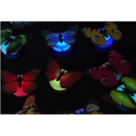 COD - [1 PCS] Kupu kupu LED Buterfly Lamp LED Lampu Tidur Souvenir kado / Hiasan Dinding / Tempelan Dinding / Hiasan Tembok - Lazpedia 2