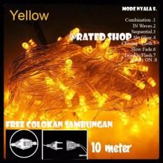 Lampu Hias Natal LED Yellow 10 Meter + Colokan Sambungan