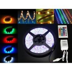 Lampu Led Strip RGB /Led 5050 ip 65  Mata Besar  Lampu Roll Led Strip Rgb Set Adaptor,remote,rgb control