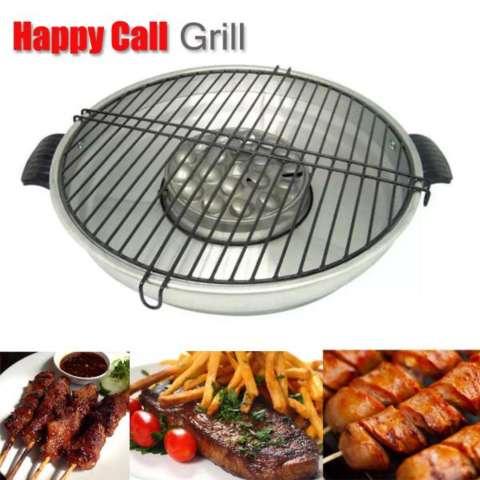 Le Chef Happy_Call Grill Magic Roaster 32cm - Alat Pemanggang Di Atas Kompor 1