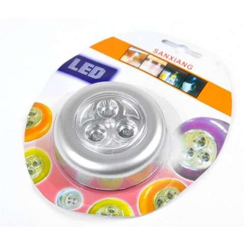 LED Light Buton Touch / Lampu Tempel Hias Etalase / Lemar i/ Dinding / Pintu / Mobil - 3 pcs 3