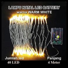 LED Tumblr Warm White Baterai A2 Lampu Hias Natal LED Baterai  - 4 Meter