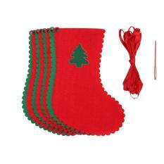 10 Buah Hadiah Natal Tarik Tertentu dan Tidak Tergantung Bendera Bendera Partai Dekorasi Dinding Jendela Rumah Pohon Banner (8 X Kaos Bendera, 1 X Tali, 1 X Suntik) Leegoal-Internasional