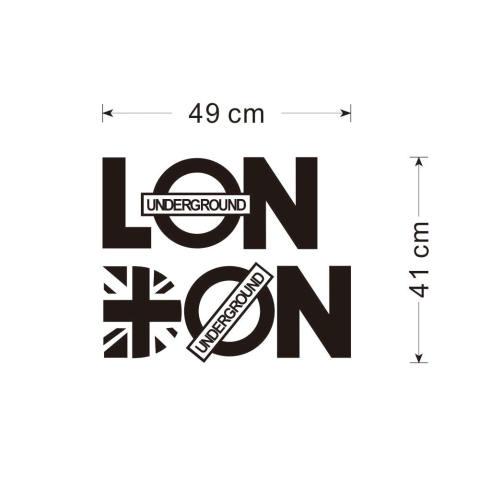 Surat PVC Can Dilepas LONDON Kamar Gaya Vinil Stiker Dinding Dekorasi Rumah Diseduh Sendiri 2