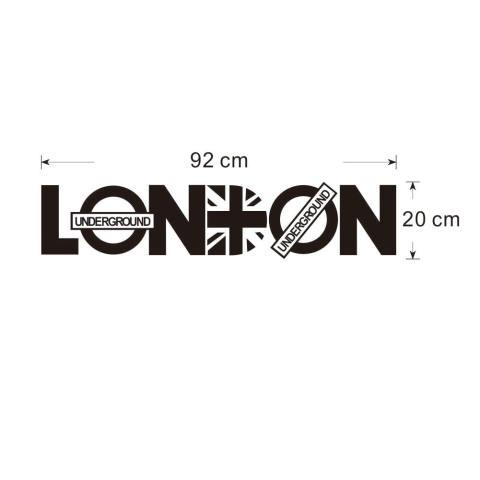 Surat PVC Can Dilepas LONDON Kamar Gaya Vinil Stiker Dinding Dekorasi Rumah Diseduh Sendiri 1