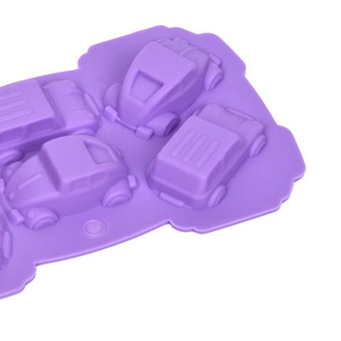 Lucu 1 Pcs Food Kelas 3D Silikon Karton Mobil Bentuk Silikon Cetakan Kue Fondan Kue Menghias-Internasional 2